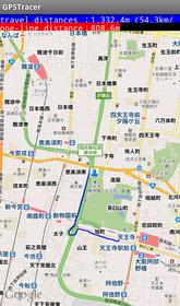 移動距離や速度をGPSで追跡「GPS移動ロガー【GPSTracer】」